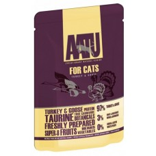 AATU беззерновые паучи для кошек с индейкой и гусем, 97/3 FOR CATS TURKEY & GOOSE, 85 г