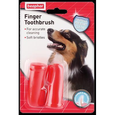 Beaphar D-A-D FINGER TOOTHBRUSH - Щетка-напальчник для чистки зубов собак (2 шт) (арт. DAI11327)