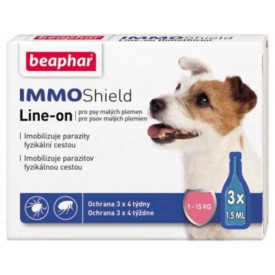 Beaphar IMMO Shield - капли от блох и клещей для собак мелких пород 1-15 кг. (арт. DAI13582)