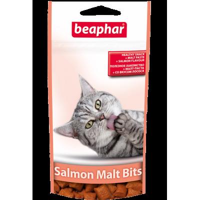Beaphar Malt-Bits with Salmon - Подушечки с мальт-пастой для кошек с лососем, 35 г / 75 шт (арт. 12621)