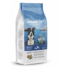 Vincent Adult Dog All Breeds with Ocean Fish - сухой корм для взрослых собак всех пород, рыба с рисом