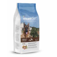 Vincent Adult Dog All Breeds with Chicken - сухой корм для взрослых собак всех пород, курица и рис